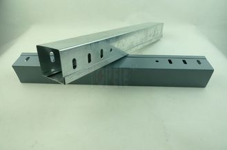 Stainless steel Pre-galvanized / Zinc Plated Electrical Cable Tray Perforated GI Cable Trunking