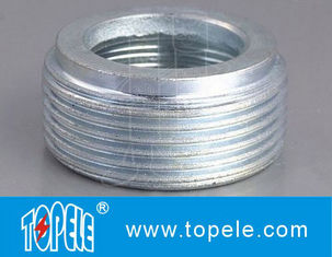Electrical IMC Conduit Fittings Zinc Plated Steel Reducing Bushing , Threaded Reducer